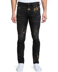 PRPS Men's Windsor Fit Painted Denim Jeans - Black