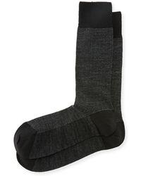 Neiman Marcus - Tiny Chevron Wool Socks - Lyst
