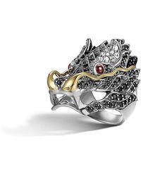 John Hardy - Pave Naga Dragon Head Ring - Lyst