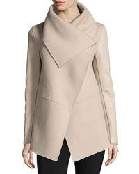 Mackage - Vane Waterfall Collar Wool-blend Coat - Lyst