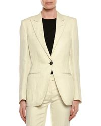 Tom Ford - Viscose/linen One-button Jacket - Lyst