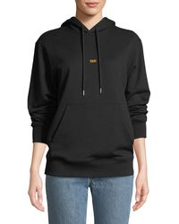 Helmut Lang - Printed Cotton-jersey Hoodie - Lyst