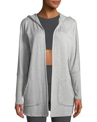 Beyond Yoga - Love And Fleece Hooded Open-front Cardigan - Lyst