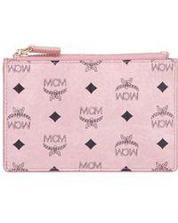 MCM - Canvas Logo Mini Key Pouch Bag - Lyst