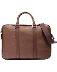 Hook + Albert Formal Leather Briefcase - Brown