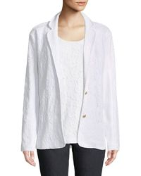 Joan Vass - Floral Lace Two-button Jacket - Lyst