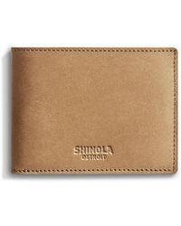 Shinola - Men's Outrigger Slim Leather Bi-fold Wallet - Lyst