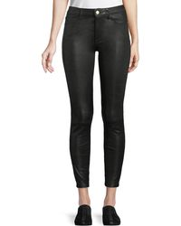 FRAME - Le High Skinny Leather Pants - Lyst