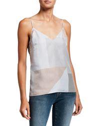 FRAME Classic Mixed - Stripe Silk Camisole - Multicolor