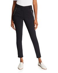 Anatomie Gail High-rise Ankle Pants With Zipper Pockets - Black
