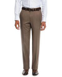 Brioni - Men's Wool Straight-leg Twill Trousers - Lyst