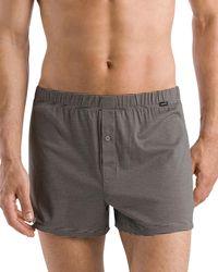 Hanro Sporty Striped Boxers - Gray