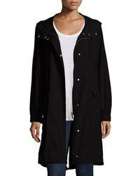 Eileen Fisher - Petite Hooded Long Anorak Jacket - Lyst