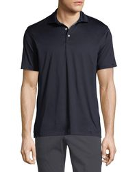Ermenegildo Zegna - Men's Mercerized Cotton Jersey Polo Shirt - Lyst