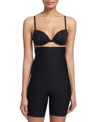 Spanx Thinstincts High-waist Mid-thigh Shaper - Black