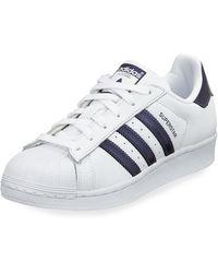 adidas superstar blue stripes