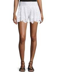 Nightcap - Spanish Lace Fan Shorts - Lyst