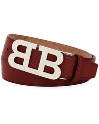Bally - Mirror B Carbon Leather Belt - Lyst