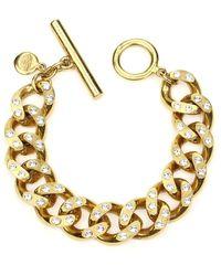 Ben-Amun Crystal Curb-link Chain Bracelet - Metallic