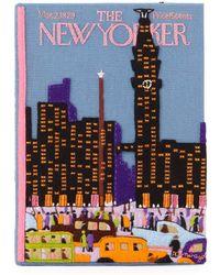 Olympia Le-Tan New Yorker Skyline Book Clutch Bag - Blue