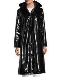Jane Post - Hooded Snap-front Long Rain Slicker Jacket - Lyst