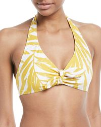 Carmen Marc Valvo - Printed Halter Swim Top - Lyst