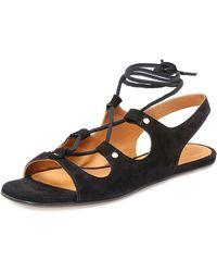 Chloé - Lace-up Slingback Gladiator Sandals Black - Lyst