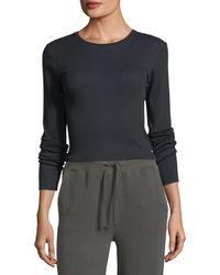 Vince | Crewneck Long-sleeve Rib-knit Top | Lyst