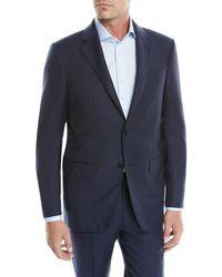 Ermenegildo Zegna - Men's Tic Striped Wool Two-piece Suit - Lyst