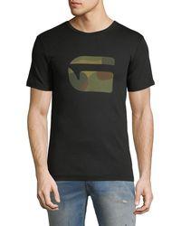 G-Star RAW - Mai Slim Camo-logo T-shirt - Lyst