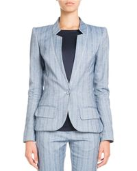 Pascal Millet - Single-breasted Striped Cotton-linen Jacket - Lyst