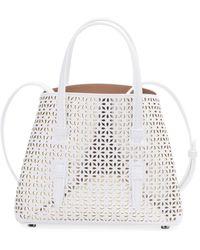 Alaïa Mina Mini Cutout Top Handle Bag - White