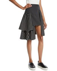 Paskal - Tiered Polka-dot Multilayered Skirt - Lyst