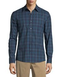 Michael Kors - Rider Trim-fit Checked Sport Shirt - Lyst