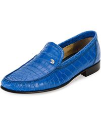 d0b6d2c8d09 Stefano Ricci - Classic Crocodile Leather Loafer Blue - Lyst