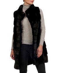 Gorski - Reversible Horizontal Mink-fur Silk-taffeta Vest - Lyst