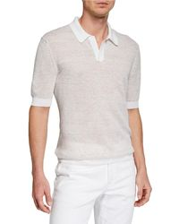 d9d7d81451 Men's Textured-knit Polo Shirt - Natural