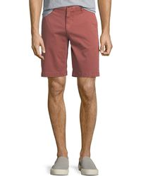 PAIGE - Men's Thompson Cotton Twill Flat-front Shorts - Lyst