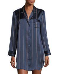 Neiman Marcus - Dot-print Silk Sleepshirt - Lyst