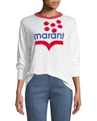 Étoile Isabel Marant - Klowyn Long-sleeve Logo Tee - Lyst