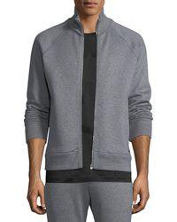 Ferragamo - Men's Stand-collar Zip-front Sweatshirt - Lyst