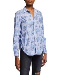 Frank & Eileen - Frank Striped Abstract-printed Button-down Long-sleeve Shirt - Lyst