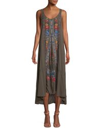 Johnny Was - Quipton Sleeveless Embroidered High-low Dress - Lyst