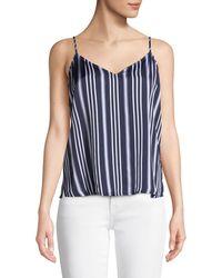AG Jeans - Lisette Striped V-neck Tank Top - Lyst