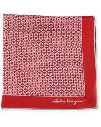 Ferragamo - Men's Allgancio Pocket Square Red - Lyst