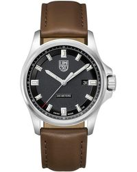 Luminox - Men's Field Watch With Leather Strap - Lyst