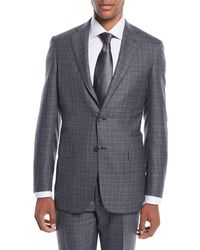 Brioni - Men's Plaid Wool-silk Two-piece Suit - Lyst