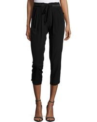 Ramy Brook - Tapered Crepe Sweatpants - Lyst