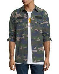 LES (ART)ISTS - Camo Canvas Long-sleeve Shirt - Lyst