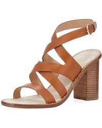 Joie - Onfer Strappy Leather Block-heel Sandal - Lyst